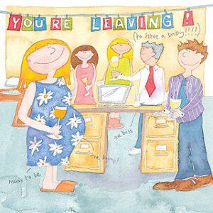 Baby Leaving Greetings Card-0