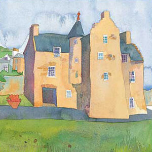 Mary Queen of Scots House, Jedburgh Greetings Card-0