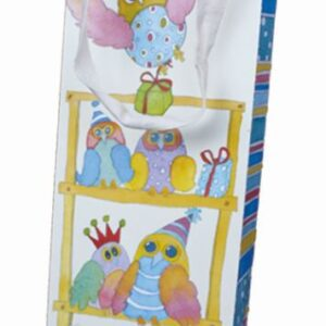 Bottle Gift Bag - Quirky Owls-0