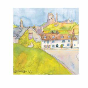 Corfe Castle Print-0