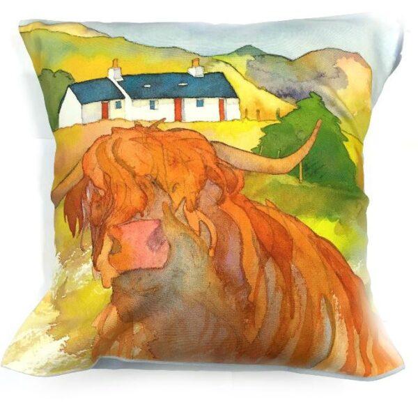 Highland Cow Cushion-0