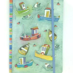 A6 Paperback notebook - Boats Afloat-0