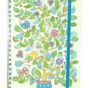 A5 Paperback notebook - Hearts & Trees-0
