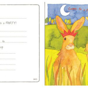 Come to a Party (Hares) Invitation