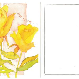 Just to Say (Roses) Card
