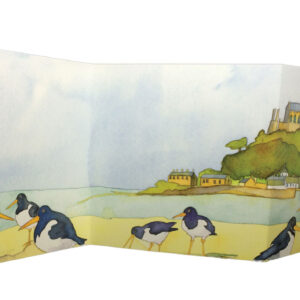 Oystercatcher's View two-fold card Greetings Card-0