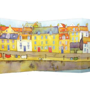 Harbour Washing Day two-fold card Greetings Card-0