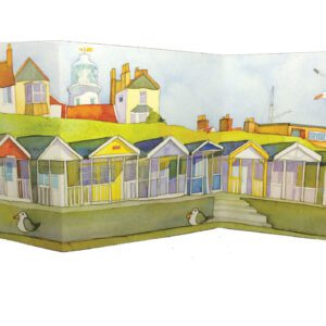 Lighthouse View two-fold card Greetings Card-0