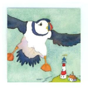 Flying Puffin Magnet-0