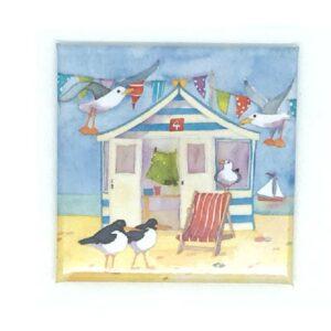Beach Hut Magnet-0