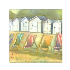 Beach Huts and Deckchairs Magnet-0