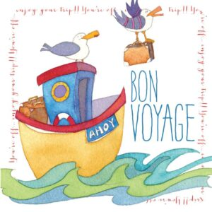 Bon Voyage - Quirky Birds Greetings Card-0