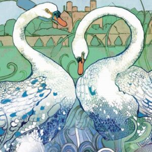 A Beautiful Swan Greetings Card-0
