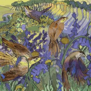 Bluebells and Birdsong Greetings Card-0