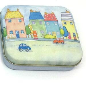 Spotty Street small square Hinged Tin-0