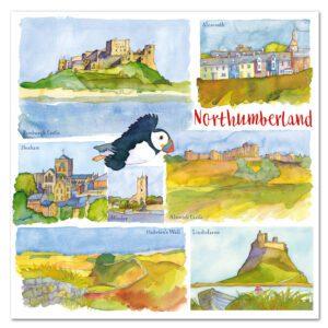 UK01 NORTHUMBERLAND CARD