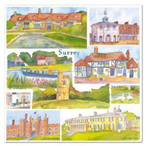 UK26 SURREY CARD