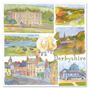 UK28 DERBYSHIRE CARD