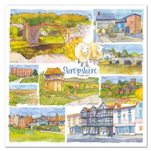 UK30 SHROPSHIRE CARD