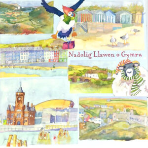 Wales (WELSH LANGUAGE) pack of 10 Xmas cards-0