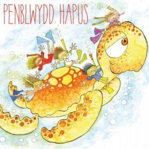Welsh Birthday, Turtle Dive - (Penblwydd Hapus) Greetings Card-0