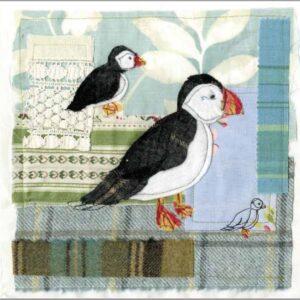 Tweedie Puffins - Greetings card-0