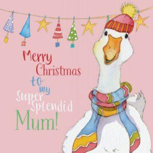 Merry Christmas Mum - Single Christmas Card-0