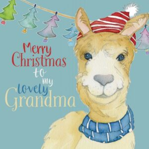 Merry Christmas Grandma - Single Christmas Card-0