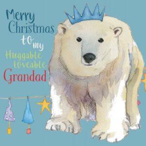 Merry Christmas Grandad - Single Christmas Card-0