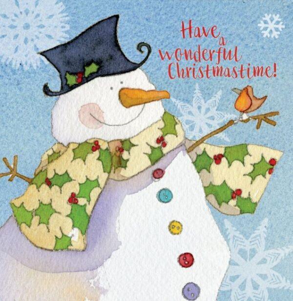 Snowman Merry Xmas 6 card pack-0