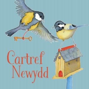 Welsh New Home Birdies - (Cartref Newydd) Greetings Card-0