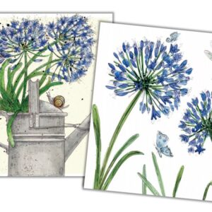Agapanthus Mini Card Pack of 10 by Caroline Cleave-0