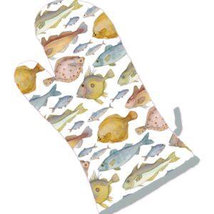 Fishes Oven Gauntlet Mitt-0