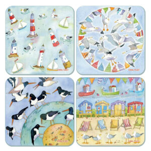 Coastal Assorted Packed Coasters (4pack)-0