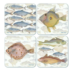 Fishes Assorted Packed Coasters (4pack)-0