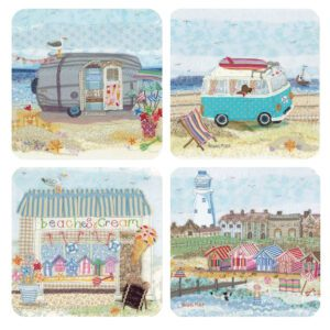 Abigail Mill Coastal Assorted Packed Coasters (4pack)-0