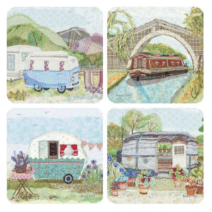 Abigail Mill Holiday Assorted Packed Coasters (4pack)-0