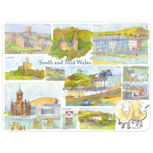 South & Mid Wales Single Placemat -0