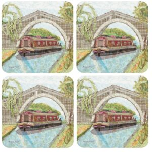 Abigail Mill Barge Packed Coasters (4pack)-0