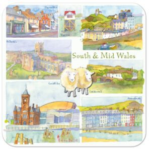 South & Mid Wales Packed Coasters (4pack)-0