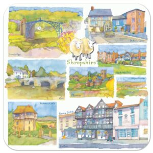 Shropshire Packed Coasters (4pack)-0