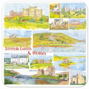 Scottish Castles & Houses Packed Coasters (4pack)-0