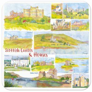 Scottish Castles & Houses Single Coaster-0