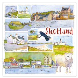 UK43 SHETLAND CARD