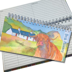 Desk Organiser - Highland Cow-0
