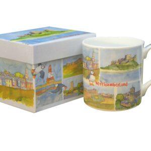 Northumberland Bone China Mug with Gift Box-0