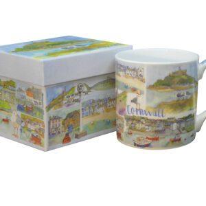 Cornwall Bone China Mug with Gift Box-0