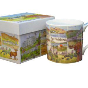 The Highlands Bone China Mug with Gift Box-0
