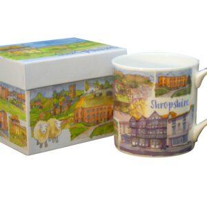 Shropshire Bone China Mug with Gift Box-0