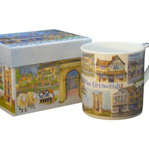 Cotswolds Bone China Mug with Gift Box-0